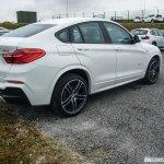 BMW X4 M Sport spied rear quarter