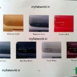 Fiat Punto Evo facelift brochure leak - color palette