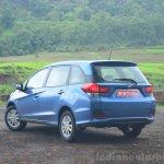 Honda Mobilio Petrol Review moving rear
