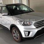 Hyundai ix25 production model spied front