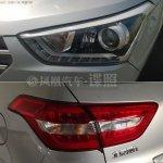 Hyundai ix25 production model spied headlight