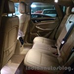 Porsche Macan beige rear seat in India