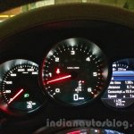 Porsche Macan instument console in India