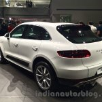 Porsche Macan rear three quarters in India