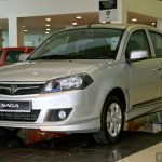 Proton Saga FLX Executive Malaysia front three quarter