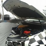 Spied 2016 Ford Endeavour engine compartment