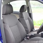 Tata Zest Diesel F-Tronic AMT Review front seats