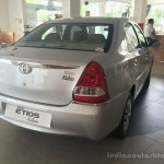 Toyota Etios Xclusive Edition live shots rear quarter