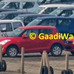 2014 Maruti Swift facelift spotted in India