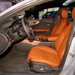 2015 Audi A7 front seats at the Moscow Motorshow 2014