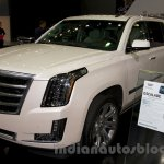 2015 Cadillac Escalade at the 2014 Moscow Motor Show front quarter