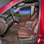2015 Chevrolet Tahoe at the 2014 Moscow Motor Show front seat
