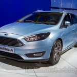 2015 Ford Focus Estate at the 2014 Moscow Motor Show front quarter
