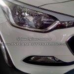 2015 Hyundai Elite i20 spotted headlight