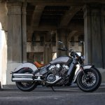 2015 Indian Scout Silver Smoke side