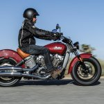 2015 Indian Scout on the move