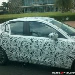 2015 Mazda2 Sedan spied in Thailand side