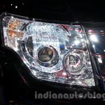 2015 Mitsubishi Pajero Facelift at the 2014 Moscow Motor Show headlight