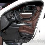 BMW X4 at the 2014 Moscow Motor Show front seat