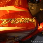 Bajaj Discover 150 F Launch 3D fuel tank sticker