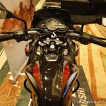 Bajaj Discover 150 F Launch black and red riders view