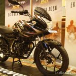 Bajaj Discover 150 F Launch black front three quarter