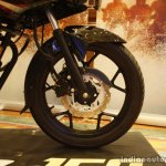 Bajaj Discover 150 F Launch black front wheel