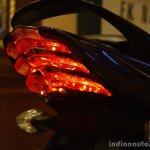 Bajaj Discover 150 F Launch blue black taillight