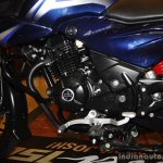 Bajaj Discover 150 F Launch blue gearshifter
