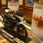 Bajaj Discover 150 F Launch front three quarter black red