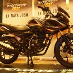 Bajaj Discover 150 F Launch front three quarter black