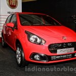 Fiat Punto Evo front three quarters left at the launch
