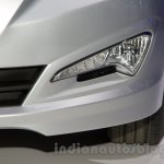 Hyundai Solaris facelift 2014 Moscow live LED DRL