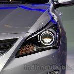 Hyundai Solaris facelift 2014 Moscow live headlight
