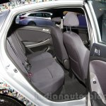 Hyundai Solaris facelift 2014 Moscow live rear seat