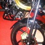 Mahindra Centuro Disc Brake Variant  spied front wheel