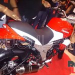 Mahindra Mojo 300 dealer preview rear three quarter