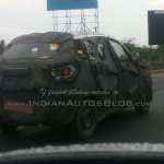 Mahindra S101 spied in Chennai rear
