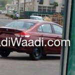 Maruti Ciaz production spied rear
