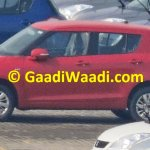 Maruti Swift facelift spied India