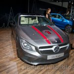 Mercedes CLA front three quarter at the Moscow Motor Show 2014