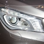 Mercedes CLA headlight at the Moscow Motor Show 2014