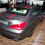 Mercedes CLA rear three quarter at the Moscow Motor Show 2014