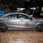 Mercedes CLA side at the Moscow Motor Show 2014