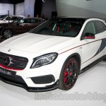 Mercedes GLA 45 AMG front left three quarterat the Moscow Motor Show 2014