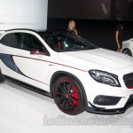 Mercedes GLA 45 AMG front three quarter at the Moscow Motor Show 2014