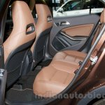 Mercedes GLA at the Moscow Motorshow 2014 rear seat