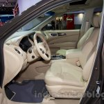 Nissan Pathfinder at the 2014 Moscow Motor Show front seat
