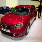 Renault Sandero front three quarters at Moscow Motor Show 2014