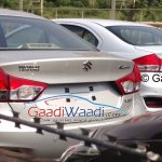 Spied Maruti Ciaz production version boot